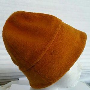 Unique Orange Fleece Cap. OS